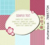 baby patchwork pattern with... | Shutterstock .eps vector #78857734