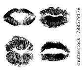 set of lips or lip shaped women ... | Shutterstock .eps vector #788579176