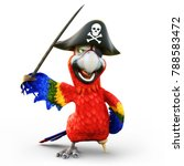 Pirate Parrot With Peg Leg ...