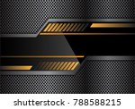 abstract black yellow... | Shutterstock .eps vector #788588215