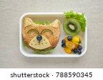 dog lunch box  fun food art for ... | Shutterstock . vector #788590345