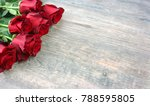 valentine's day red roses over... | Shutterstock . vector #788595805