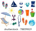 beach time | Shutterstock .eps vector #78859819