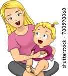 illustration of a mom applying... | Shutterstock .eps vector #788598868