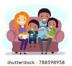 illustration of an african... | Shutterstock .eps vector #788598958