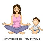 illustration of a mom with her... | Shutterstock .eps vector #788599036