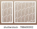 set decorative card for cutting....   Shutterstock .eps vector #788600302