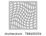 template for cutting. circle... | Shutterstock .eps vector #788600356