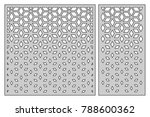 set template for cutting.... | Shutterstock .eps vector #788600362