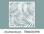 decorative card for cutting.... | Shutterstock .eps vector #788600398