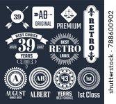 vintage retro vector logo for... | Shutterstock .eps vector #788600902