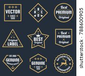vintage retro vector logo for... | Shutterstock .eps vector #788600905