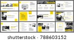 yellow and white element for... | Shutterstock .eps vector #788603152