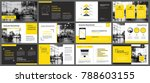 yellow presentation templates... | Shutterstock .eps vector #788603155