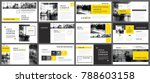 yellow presentation templates... | Shutterstock .eps vector #788603158