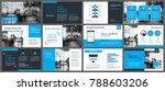 blue presentation templates and ... | Shutterstock .eps vector #788603206