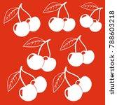 cherries pattern. cherry... | Shutterstock .eps vector #788603218