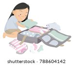 vector cartoon illustration of... | Shutterstock .eps vector #788604142