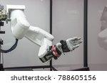 industry 4.0 robot concept .the ... | Shutterstock . vector #788605156
