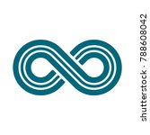 infinity symbol or sign ... | Shutterstock .eps vector #788608042
