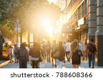 man stands in the middle of a... | Shutterstock . vector #788608366