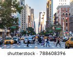 new york city   circa 2017 ... | Shutterstock . vector #788608396