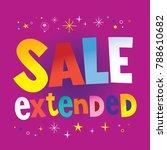 sale extended banner poster | Shutterstock .eps vector #788610682