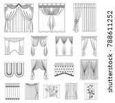different kinds of curtains... | Shutterstock .eps vector #788611252
