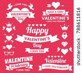 valentine template banner... | Shutterstock .eps vector #788611816