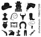 rodeo  competition black icons...   Shutterstock .eps vector #788617288