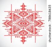 geometric aztec pattern. tribal ... | Shutterstock .eps vector #788618635