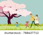 spring landscape. image of... | Shutterstock .eps vector #788637712
