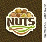 Vector Logo For Nuts  Cut Sign...