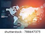 2d illustration of global...   Shutterstock . vector #788647375