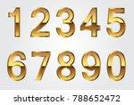 gold numbers set.vector metal... | Shutterstock .eps vector #788652472
