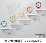 5 steps pointer infographic... | Shutterstock .eps vector #788653252