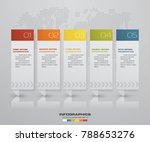 abstract 5 steps infographics... | Shutterstock .eps vector #788653276
