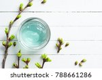 blue beauty product gel and... | Shutterstock . vector #788661286