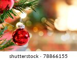 Red Christmas Tree Bauble By...