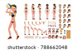 volleyball player vector. beach ... | Shutterstock .eps vector #788662048