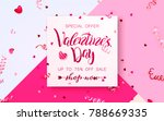 happy holidays  valentines day...   Shutterstock .eps vector #788669335