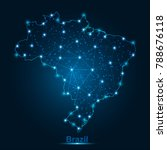 abstract map of brazil with... | Shutterstock .eps vector #788676118