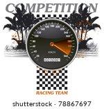 racing banner with speedometer...   Shutterstock .eps vector #78867697