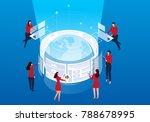 global network development | Shutterstock .eps vector #788678995