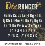 vintage vector alphabet in the... | Shutterstock .eps vector #788681446