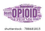 opioid crisis word cloud... | Shutterstock .eps vector #788681815