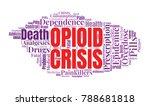 opioid crisis word cloud... | Shutterstock .eps vector #788681818