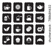 tea icons. grunge black flat... | Shutterstock .eps vector #788684632