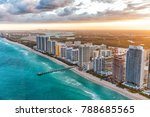 miami beach buildings at dusk ... | Shutterstock . vector #788685565