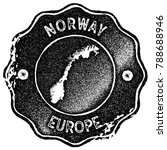 norway map vintage stamp. retro ... | Shutterstock .eps vector #788688946